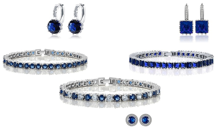 Fakurma UK: One (AED 99), Two (AED 169) or Three (AED 229) Lab-Created Sapphire Duo Sets With Free Delivery (Up to 91% Off)