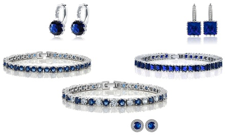 One (AED 99), Two (AED 169) or Three (AED 229) Lab-Created Sapphire Duo Sets With Free Delivery (Up to 91% Off)