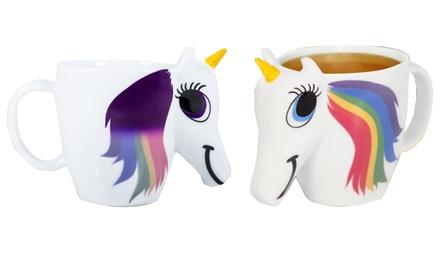 1 ou 2 Tasses licorne qui changent de couleurs