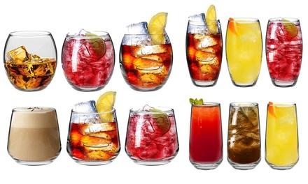 6, 12 or 24 Tondo or Tallo Hiball and Tumbler Glasses Set