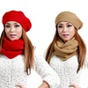 Knit Winter Hat and Infinity Scarf Set (2-Piece)