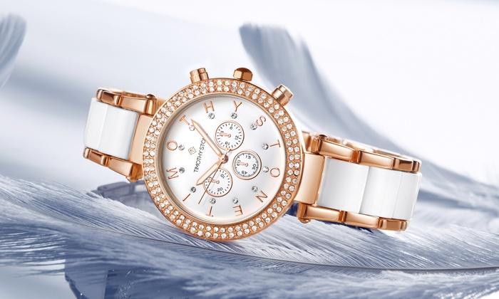 Deal Of Fame: 1 ou 2 montres Desire ornées de cristaux Swarovski® de la marque Timothy Stone, livraison offerte