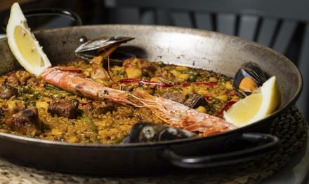 Menú de paella para 2 o 4 con entrante, postre y bebida en Restaurant Uplaca (hasta 55% de descuento)