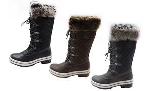 ArcticShield Melissa Women's Waterproof Fur Snow Boots