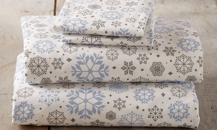 Soft Printed 100 Turkish Cotton Flannel Sheet Set 3 Or 4 Piece Groupon