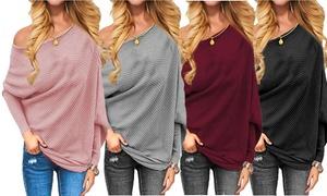 (Mode)  Pull femme épaules dénudées -76% réduction