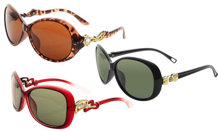 Zodaca Women's Rhinestone Sunglasses