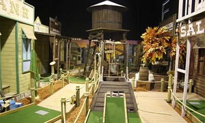 Mega Mini Golf: 18 Holes of Mini Golf for Two ($15) or Three People ($21) at Mega Mini Golf (Up to $45 Value)