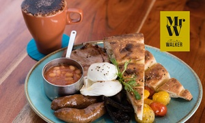 Mister Walker: Waterfront Breakfast with Coffee for Two ($29) or Four People ($58) at Mister Walker, South Perth (Up to $114 Value)