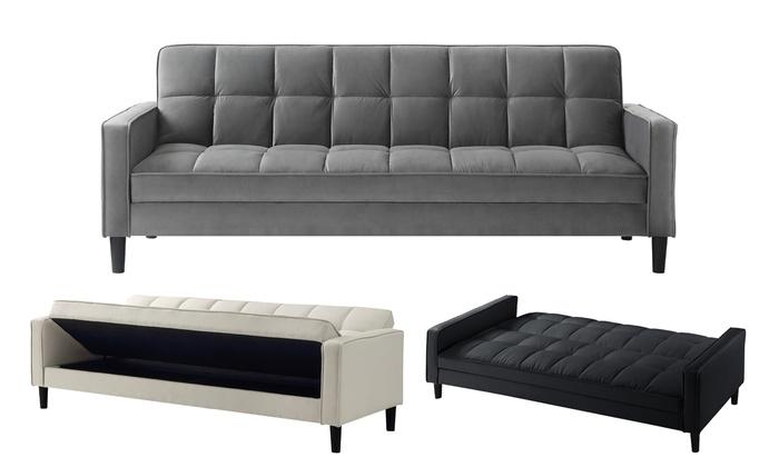 Olov Convertible Tufted Sofa Bed Futon