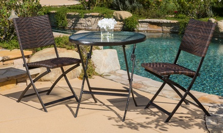 Cantinela Folding Bistro Table Set (3-Piece)
