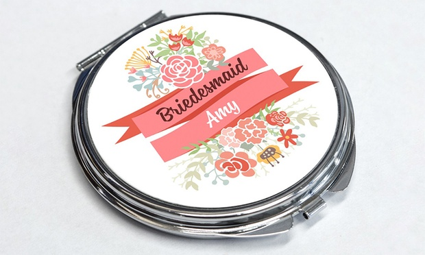 Personalised Pocket Mirror: One ($8) or Two ($14) (Dont Pay up to $58)