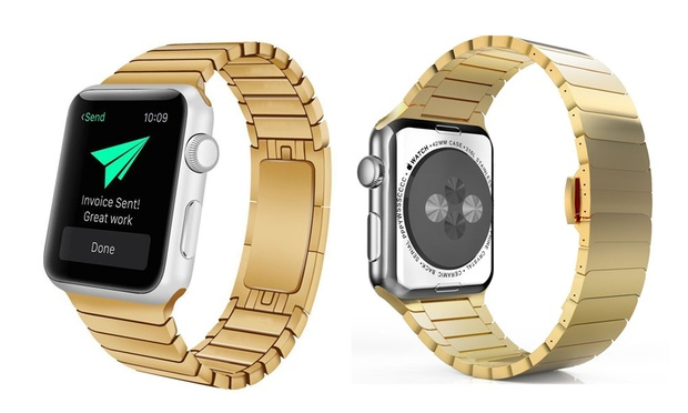 Stainless Steel Replacement Band for Apple Watch: One ($24.95) or Two ($48.95)