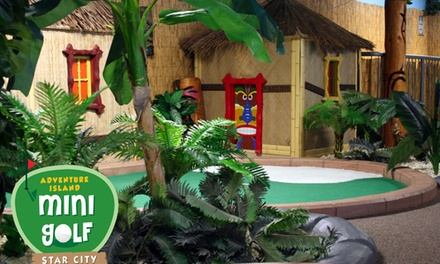 18 Holes of Adventure Mini Golf For Two or Family of Four