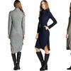 Women's Turtleneck Midi Dress with Pockets