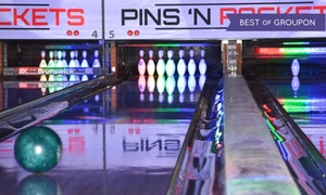 Pins N Pockets Entertainment: Bowling and Shoe Rental for Up to Four or Six at Pins N Pockets Entertainment (Up to 56% Off)