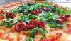 Pizza con antipasto, dolce e birra