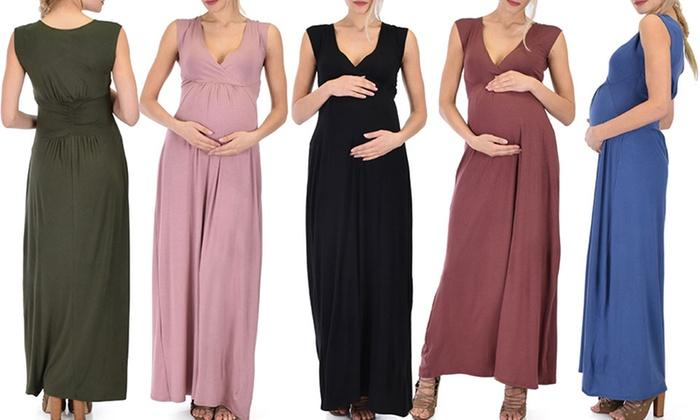 7af9425884d Lyss Loo Maternity Sweetest Kiss Sleeveless Maxi Dress