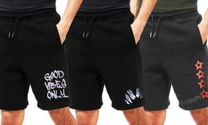 Men's Draw String Fleece Shorts