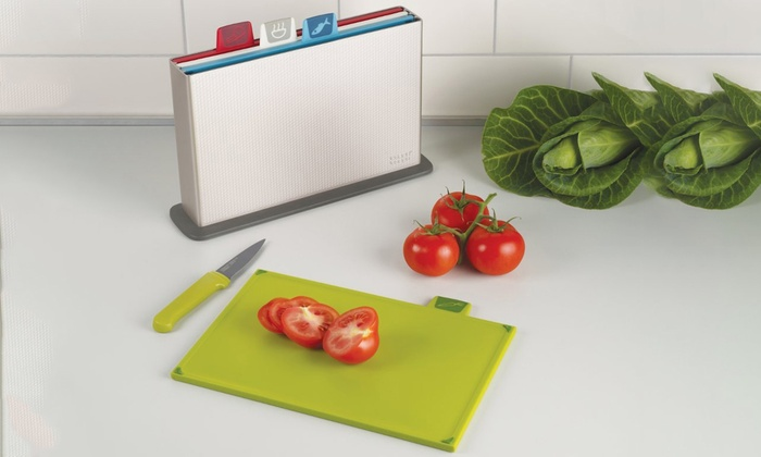 Index Chopping Boards with Stainless Steel Case (5-Piece)
