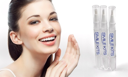 $19 for a 3-Pack of Teeth-Whitening Pens from Smile Kits ($69 Value). Shipping Included.