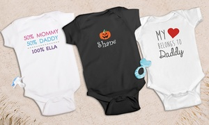 GiftsForYouNow.com: One or Two Personalized Infant Rompers from GiftsForYouNow.com (Up to 50% Off)