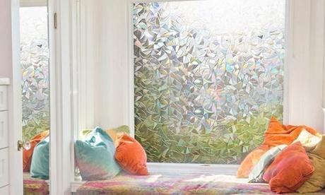 1 ou 2 films occultant non-adhésifs en PVC et PET, pour vitre ou surface vitrée