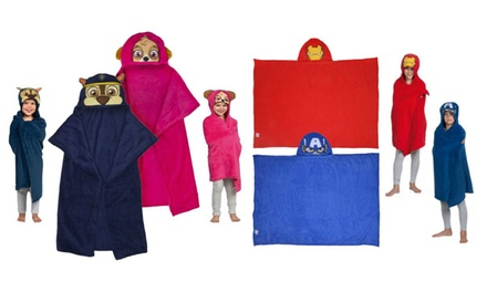 Children's Character Hooded Cuddle Blanket in Choice of Design