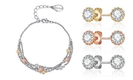 Set van 3 oorbellen en/of ketting van Madeleine Mestigé met Swarovskikristallen vanaf € 12,99 gratis bezorging