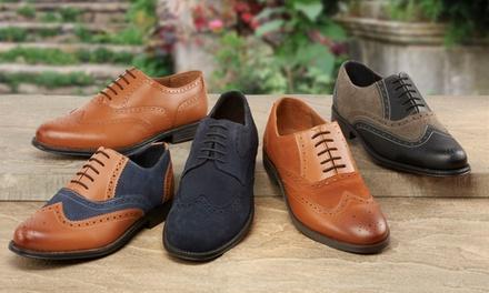 Chaussures de ville pour homme en cuir, modèle, coloris et pointure au choix, à 39,99€