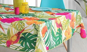 Mantel antimanchas tropical