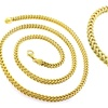 Men's 18K Gold Plated Franco Chain Necklace or Bracelet