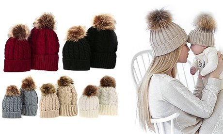 Set di 2 cappelli mamma-bimbo