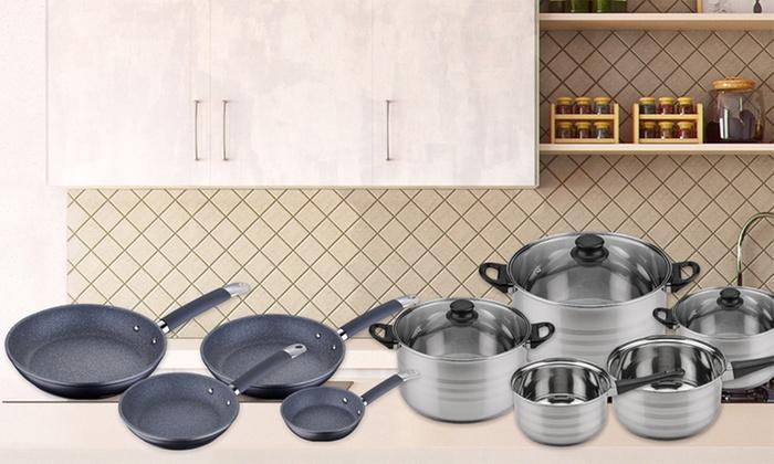 Set de cocina san ignacio groupon goods for Sartenes profesionales cocina