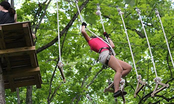 The Adventure Park at Frakenmuth - Frankenmuth: Ziplining and Rope-Course Outing for One, Two, or Four at The Adventure Park at Frankenmuth (Up to 64% Off)
