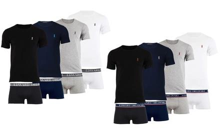 Set van 2 boxers en Tshirts van Edward Orlovski, verkrijgbaar in verschillende kleuren en maten