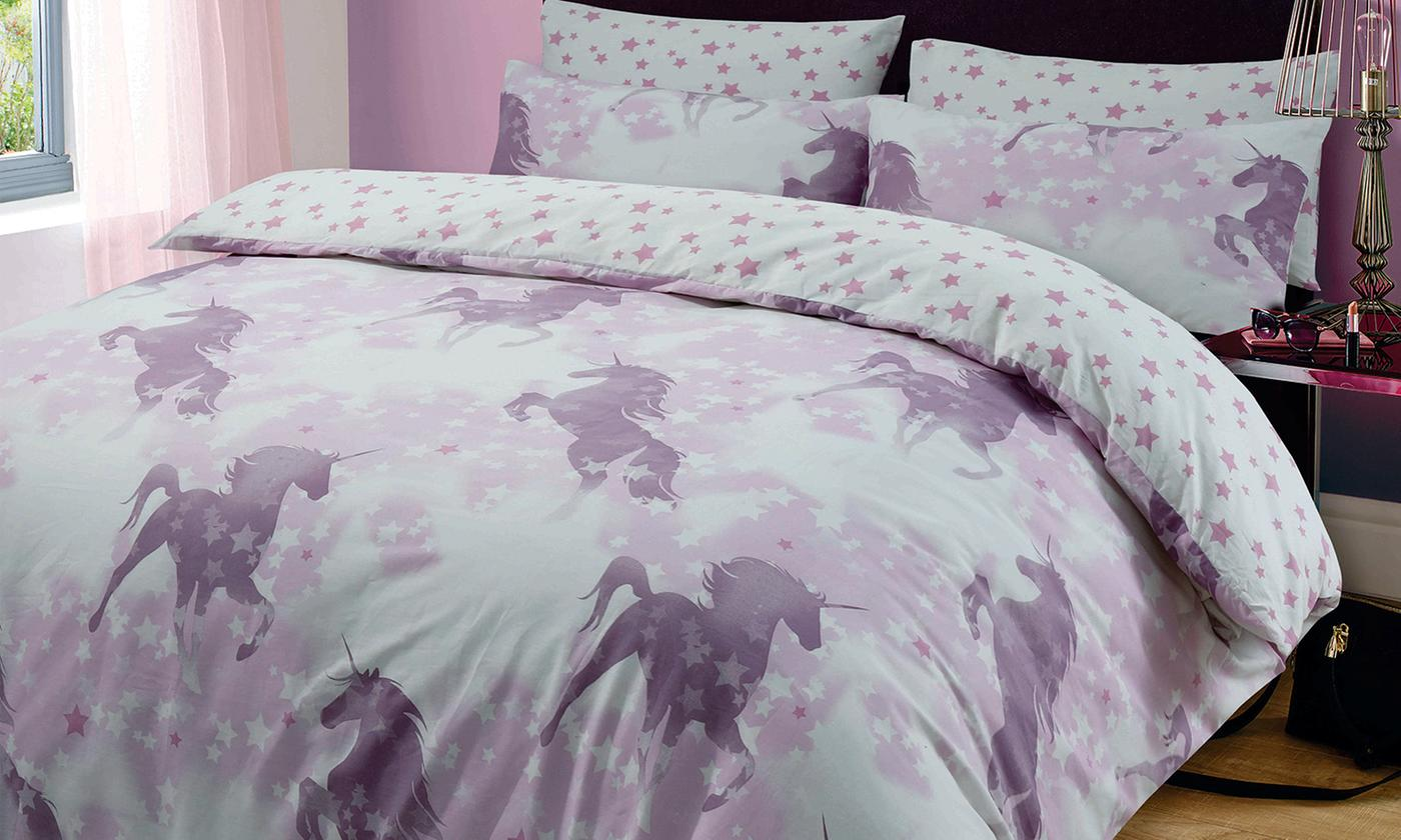 Unicorn Reversible Duvet Set for £9.98