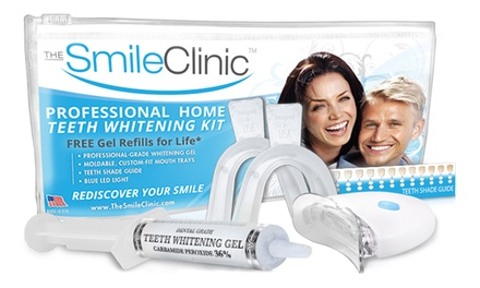 $19 for Take-Home Teeth Whitening Kit with Gel Refills for Life from The Smile Clinic ($123.99 Value)