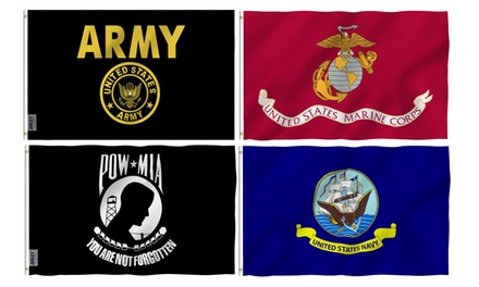 ANLEY Military 3'x5' Flags - Army, Navy, Marines & More