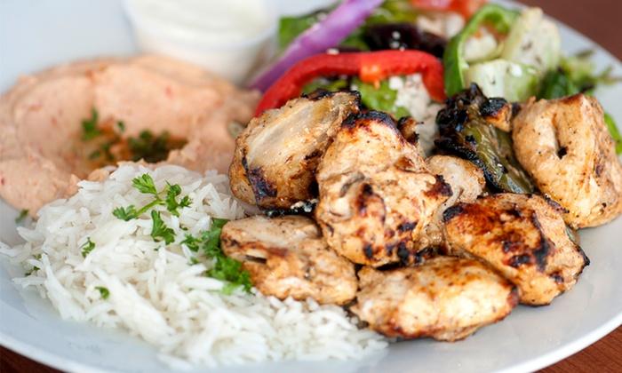 Mezza Mediterranean Grill - ABC: Mediterranean Food for Two or Four at Mezza Mediterranean Grill (45% Off)