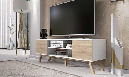 selsey vero wood woody tv cabinet groupon goods. Black Bedroom Furniture Sets. Home Design Ideas
