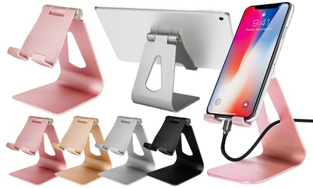 Adjustable Aluminium Phone or Tablet Stand with Optional Accessories for iPhone