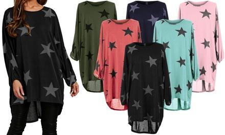 Women's Oversized Star Print Top