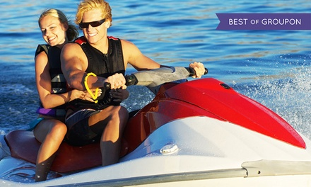 Pontoon Boat or Wave Runner Rentals at Metro Lakes Marina and Rentals (Up to 40% Off). Six Options Available.