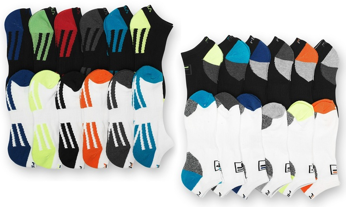 Fila Men's No-Show Moisture-Wicking Socks (12 Pairs): Fila Men's No-Show Moisture-Wicking Socks (12 Pairs)