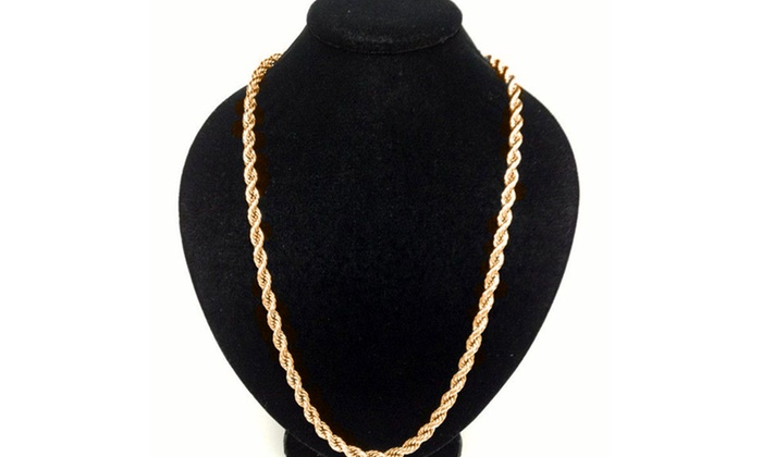 Solid 10K Gold Men's Rope Chain: Solid 10K Gold Men's Rope Chain