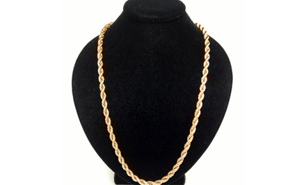 Solid 10K Gold Men's Rope Chain