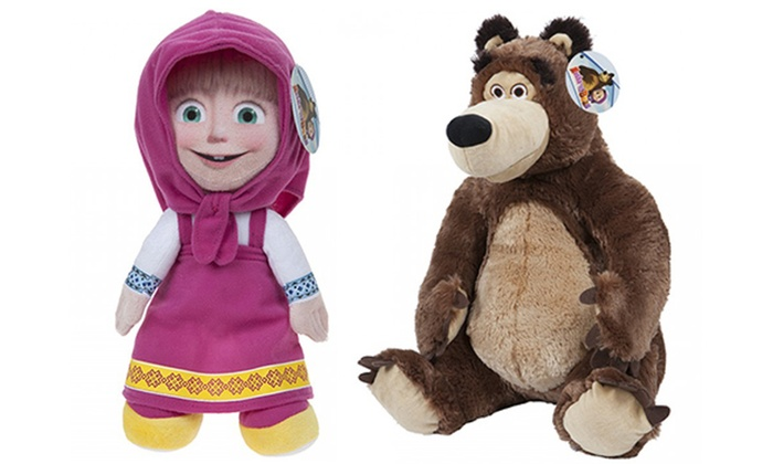 dc9ff8aeccd14 Up To 31% Off Masha and The Bear Plush Toys   Groupon