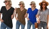 V-Neck Twisted Casual T-Shirt