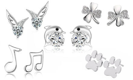 One or Two Pairs of Stud Earrings